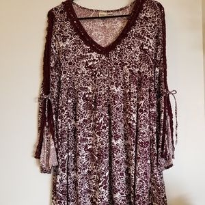 Roxy Casual Dress With Knitted Trims -Size Small